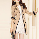 cheap Totes-Women's Trench Coat - Solid Colored, Classic Style