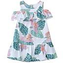 זול שמלות לבנות-שמלה שרוולים קצרים דפוס חגים פעיל בנות ילדים / כותנה / חמוד