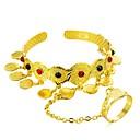 preiswerte Modische Ohrringe-Armreife Manschetten-Armbänder - damas, Ethnisch Armbänder Schmuck Gold Für Geburtstag Geschenk