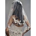 זול קישוטי חתונה-שתי שכבות מסוגנן / פנינים הינומות חתונה צעיפי מרפק עם דמוי פנינה / ריקמה פולי / הינונמה נופלת
