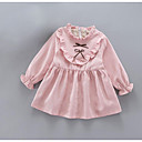 tanie Sukienki dla dziewczynek-Brzdąc Dla dziewczynek Aktywny Święto Solidne kolory Długi rękaw Sukienka / Bawełna / Śłodkie