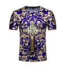 billige øremærkninger værktøjer-Herre - Blomstret Farveblok Trykt mønster Aktiv Basale T-shirt