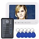 baratos Sistemas de Câmeras para Portas-MOUNTAINONE Com Fio 7 Polegadas Mãos Livres 480*234*3Pixel Interfone de Vídeo Um para Um