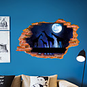 billige Veggklistremerker-Dekorative Mur Klistermærker - Animal Wall Stickers Dyr 3D Stue Soverom Baderom Kjøkken Spisestue Leserom / Kontor