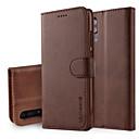 billige Mobilcovers & Skærmbeskyttelse-Etui Til Huawei P20 / P20 Pro Pung / Med stativ / Flip Fuldt etui Ensfarvet Hårdt PU Læder for Huawei P20 / Huawei P20 Pro / Huawei P20 lite