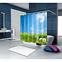 billige Bruseforhæng-Brusegardiner & Kroge Moderne polyester Ensfarvet Maskinproduceret Vandtæt Badeværelse