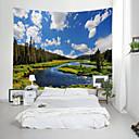 billige Wall Tapestries-Have Tema Landskab Vægdekor 100% Polyester Moderne Vægkunst, Wall Gobeliner Dekoration