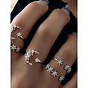 cheap Bracelets-Cluster Ring Set - Alloy Moon, Star Basic, Fashion 7 Silver For Daily / Date