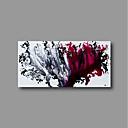 tanie Wydruki-Hang-Malowane obraz olejny Ręcznie malowane - Abstrakcja Nowoczesne Brezentowy / Rozciągnięte płótno