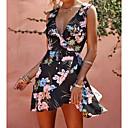 זול תכשיט לקרסול-מעל הברך דפוס, פרחוני - שמלה נדן מתוחכם בגדי ריקוד נשים