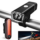 cheap Bike Lights & Reflectors-Front Bike Light / Rear Bike Light / Rechargeable Bike Light Set LED Bike Light Cycling Waterproof, Portable Li-ion 500 lm Cycling / Bike