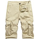 cheap Rhinestone & Decorations-Men's Military Plus Size Cotton Loose Shorts Chinos Pants - Solid Colored