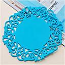 tanie Podkładki stołowe-Klasyczny Plastikowy Zaokrąglanie Podkładki Jendolity kolor Dekoracje stołowe 1 pcs