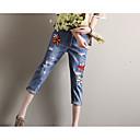 billige Skuldervesker-Dame Grunnleggende Jeans Bukser Geometrisk