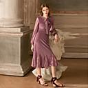 ieftine Rochii-Pentru femei Concediu Vintage Sleeve Lantern Zvelt Teacă Rochie - Dantelă, Mată În V Talie Înaltă Midi
