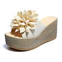 זול מגפי נשים-בגדי ריקוד נשים נעליים PU חורף נוחות כפכפים & כפכפים פתוח בבוהן לבן / שחור / ירוק