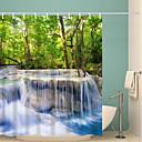 tanie Zasłony prysznicowe-Zasłony i haczyki kąpielowe Rustykalny Poliester Nowość Tkany maszynowo Wodoodporny Łazienka