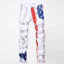 זול נעלי ספורט לגברים-בגדי ריקוד גברים מידות גדולות כותנה רזה ג'ינסים מכנסיים קשת