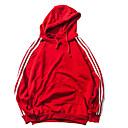 tanie Adidasy męskie-Męskie Podstawowy / Punk i gotyk Długi rękaw Luźna Długie Bluza z Kapturem - Solidne kolory Kaptur