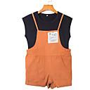 tanie Sukienki dla dziewczynek-Dzieci Dla dziewczynek Solidne kolory Krótki rękaw Komplet odzieży / Śłodkie
