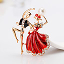 cheap Religious Jewelry-Women's Brooches - Princess Cartoon, European, Fashion Brooch Red / Blue For Gift / Daily
