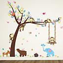 preiswerte Wand-Sticker-Dekorative Wand Sticker - Tier Wandaufkleber Tiere Wohnzimmer Schlafzimmer Badezimmer Küche Esszimmer Studierzimmer / Büro