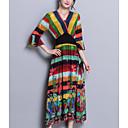 זול שרשרת אופנתית-מקסי קולור בלוק - שמלה נדן בגדי ריקוד נשים
