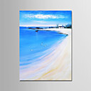 tanie Pejzaże-Hang-Malowane obraz olejny Ręcznie malowane - Krajobraz Nowoczesny Brezentowy / Zwijane płótno