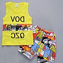 tanie Sukienki dla dziewczynek-Brzdąc Dla chłopców Aktywny Nadruk Nadruk Bez rękawów Komplet odzieży