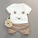 ieftine Set Îmbrăcăminte Băieți Bebeluși-Bebelus Băieți Casual Zilnic Mată Manșon scurt Bumbac Set Îmbrăcăminte Negru 100 / Copil