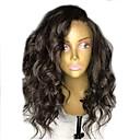 povoljno Perike s ljudskom kosom-Remy kosa Lace Front Perika Stepenasta frizura stil Brazilska kosa Wavy Crna Perika 130% Gustoća kose s dječjom kosom Za crnkinje Žene Kratko Srednja dužina Dug Perike s ljudskom kosom Aili Young Hair