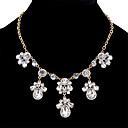 cheap Earrings-Women's Cubic Zirconia Statement Necklace - Crystal, Zircon Drop Sweet, Fashion Gold, Silver 45+5.4 cm Necklace For Date, Bar