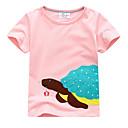 お買い得  赤ちゃん トップス-赤ちゃん 女の子 日常 幾何学模様 ハーフスリーブ レギュラー コットン Tシャツ ピンク / キュート / 幼児