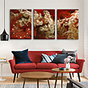 זול שעוני קיר מוטבעים בציורי קנבס-סגנון מודרני נוף בַּד דמוי קוביה בבית,סוללה