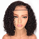 cheap Human Hair Wigs-Remy Human Hair Lace Front Wig Brazilian Hair Curly Wig Bob Haircut 130% With Baby Hair / Natural Hairline / African American Wig Women's Short / Mid Length Human Hair Lace Wig