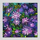 tanie Torby tote-Hang-Malowane obraz olejny Ręcznie malowane - Kwiatowy / Roślinny Nowoczesny Brezentowy / Rozciągnięte płótno