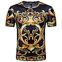 tanie Zestawy ubrań dla chłopców-T-shirt Męskie Vintage / Podstawowy, Nadruk Okrągły dekolt Geometric Shape / Krótki rękaw
