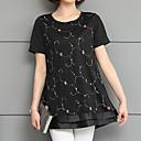 baratos Porta Cosméticos-Mulheres Blusa Básico Estampado, Floral
