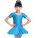 tanie Obrazy olejne-Balet Suknie Dla dziewczynek Szkolenie / Wydajność Spandeks Marszcząca się Krótki rękaw Naturalny Ubierać