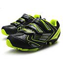 hesapli Bisiklet Ayakkabıları-Tiebao® Dağ Bisikleti Ayakkabıları Karbon fiber Anti-Kayma, Giyilebilir, Hava Alan Bisiklet Siyah / Sarı Erkek