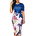 cheap Rings-Women's Slim Bodycon Dress - Floral Print / Summer / Floral Patterns