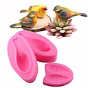 cheap Cookie Tools-Cute 3D Bird Fondant Cake Decorating Tools Sugarcraft Silicone Mold Baking Gumpaste Chocolate Moulds