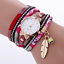 preiswerte Modische Armbänder-Damen damas Modeuhr Quartz Imitation Diamant PU Band Analog Freizeit Modisch Schwarz / Weiß / Blau - Fuchsia Rot Blau Ein Jahr Batterielebensdauer