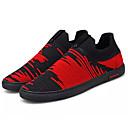 cheap Men's Sneakers-Men's Knit Spring / Fall Comfort Sneakers Black / Black / White / Black / Red
