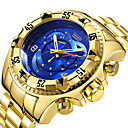 رخيصةأون أضواء الفيضانات LED-رجالي ساعة رياضية كوارتز رزنامه ساعة كاجوال طرد كبير ستانلس ستيل فرقة مماثل ترف كوول أسود / فضة / ذهبي - الذهب / أبيض أسود / فضي فضي / أزرق