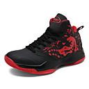 זול סניקרס לגברים-בגדי ריקוד גברים קנבס / טול קיץ נוחות נעלי אתלטיקה כדורסל שחור וזהב / שחור לבן / שחור אדום