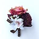 abordables Dessous de Robe de Mariage-Fleurs de mariage Boutonnières / Petit bouquet de fleurs au poignet Mariage / Soirée Polyester 3.94 pouce