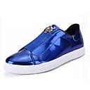זול סניקרס לגברים-בגדי ריקוד גברים PU סתיו נוחות נעלי ספורט שחור / כסף / כחול