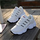 cheap Women's Sneakers-Women's Shoes Synthetic / Tulle Spring / Fall Comfort Sneakers Flat Heel White / Black / Pink