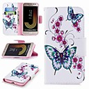 cheap Cell Phone Cases & Screen Protectors-Case For Samsung Galaxy J7 (2017) / J2 PRO 2018 Card Holder / Wallet / with Stand Full Body Cases Butterfly Hard PU Leather for J7 (2017)